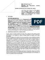 Apelacion de Resolucion que aprueba Liquidacion