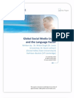 Global Social Media Usage and the Language Factor