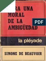 Para Una Moral de La Ambigüedad
