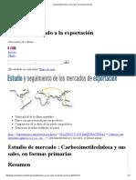 Carboximetilcelulosa y Sus Sales, En Formas Primarias