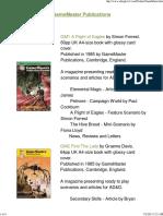 Game Master Publications - Checklist