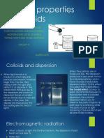 Optical Properties of Colloids