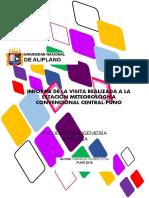 Informe de meteorología y climatología