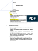 Modelo de Informe Psicologico