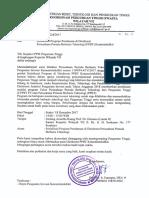 Srt.sosialisasi Program Pendanaan (PPBT) Kemristekdikti