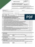 04-SGSST F 62 Permiso de Trabajo Electrico