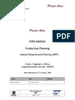 PP Usermanual MRP