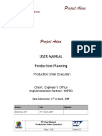 PP Usermanual Production Order Execution