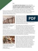 East India Company -- Britannica Online Encyclopedia