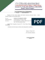 Surat Keterangan Bekerja Licke