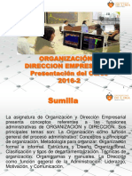 Semana 1 - Presentacion Del Curso 2016-2 Organizacion