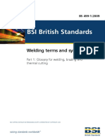 BS 499-1-2009 Welding Terms and Symbols Part 1 Glossary for Welding, Brazing and Thermal Cutting