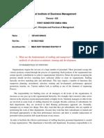 Principles and Practices of Management D Manju
