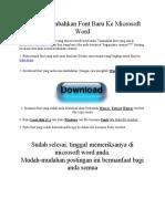 Cara Menambahkan Font Baru Ke Microsoft Word