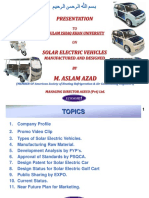 Presentation Solar Electric Vehicle