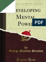 Developing Mental Power - 9781440081132