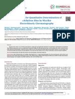 Fast Method for Quantitative Determination Of