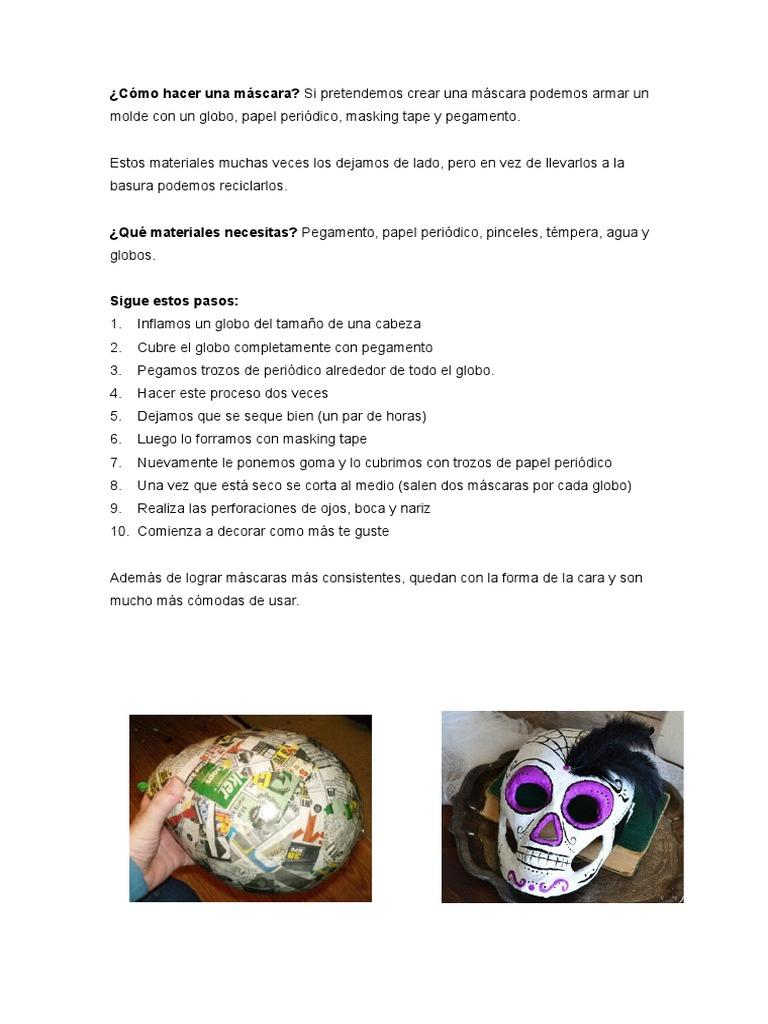 cómo hacer una máscara