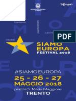 Programma Siamo Europa Trento 2018