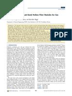 Hollowfibre Module Development Journal Publication