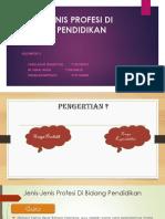 Jenis-jenis Profesi Di Bidang Pendidikan