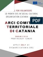 Call for EVS ARCI Catania 2018
