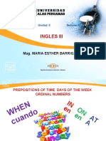 Ayuda Semana 5 Prepositions of Time