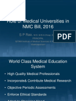 Role of Medical Universities in NMC