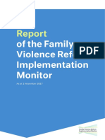 Report of the Family Violence Reform Implementation Monitor