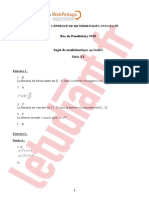 Bac Es 2018 Pondichery Corrige Maths Specialite