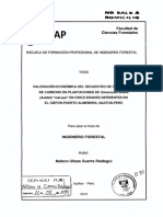 Valoración Económica Del Secuestro de CO2 y Stock de Carbono en Plantaciones de Simarouba Amara