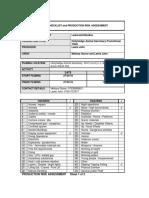 risk assessment sheets