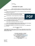 Anfone Affidavit of Loss