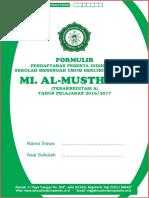 Cover Formulir Pendaftaran MI 2016