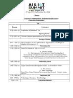 Tentative Agenda AI & IoT