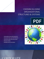 Choosing & Using Organizational Structures & Systems