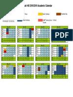 Academic Calendar 2018-2019
