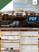 Ficha Tecnica Toyota Hilux 2018