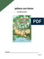 reading guide - el capibara con botas