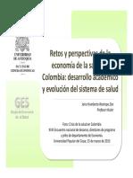 La Economia Retos Sistema Salud en Colombia