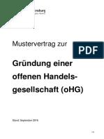 OHG Mustervertrag Data