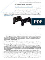 Better Controls for Shooter Video Games