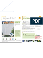 Pexco PDS Winged Slat Product Sheet