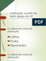 Adoração a Partir Do Texto Grego Do NT (Completo)