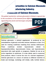 Investment Opportunities in Calcium Gluconate Manufacturing Industry.