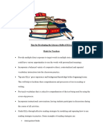 Tips for Developing the Literacy Skills of ELLs by Aissa Atkinson-Davis