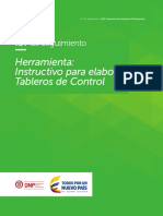 Instructivo para elaborar Tableros de Control