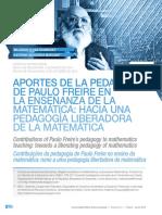 Aportes de la pedagogía de Freire en matemáticas