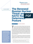 The Renewed Russian Nuclear Threat and NATO Nuclear Deterrence Posture