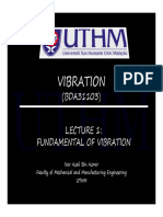Lecture 1 - Fundamental of Vibration